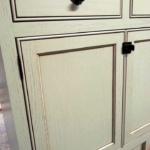 Flat Panel with Beaded Edge_ Painted and Glazed (Large) (Large)